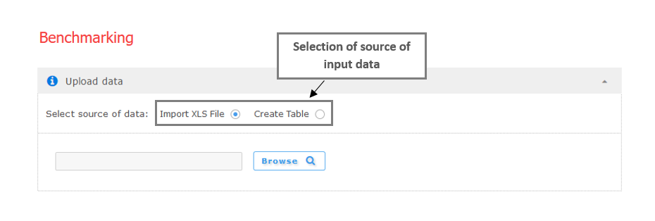 Figure 1a:  Step 1 –Import data from .xls file